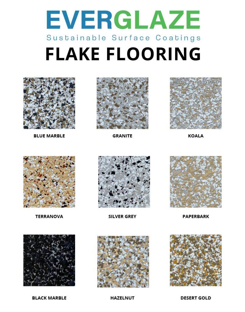 Everglaze - Flake Flooring - colour swatches