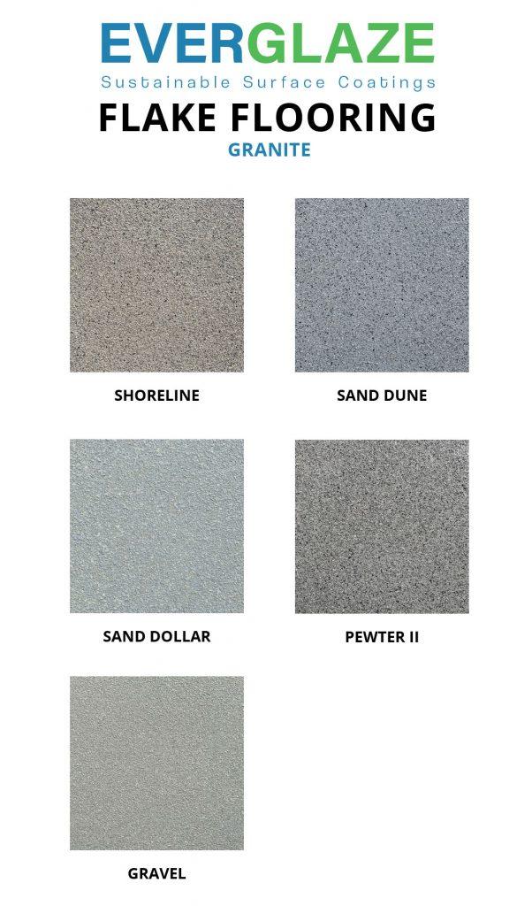 Everglaze - Flake Flooring - Granite colour swatches